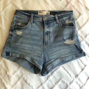 Garage - High-Waisted Jeans Shorts